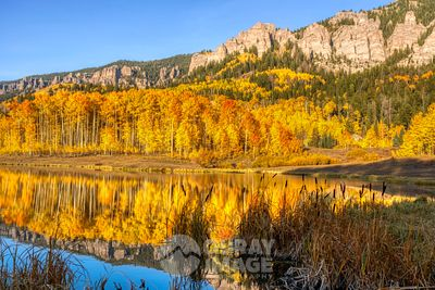 Fall reflections in the Cimarron mountains