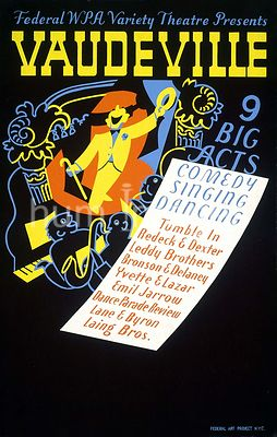 Federal WPA Variety Theatre presents vaudeville 9 big acts : Comedy, singing, dancing. ca. 1937