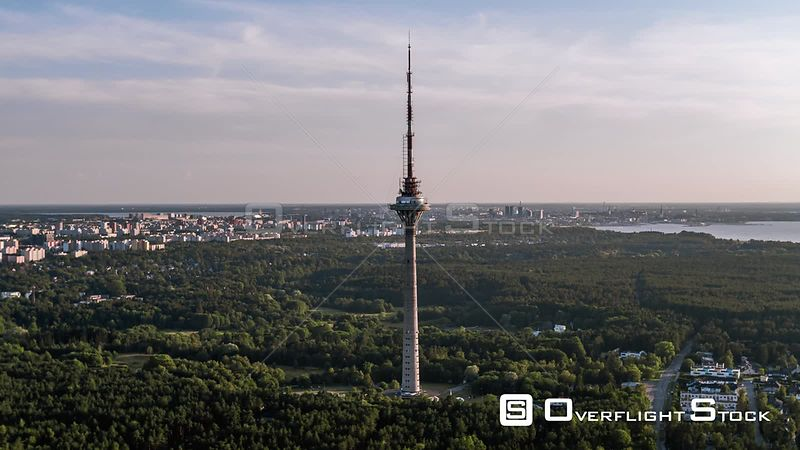 Drone Video Communications Tower Tallinn Estonia