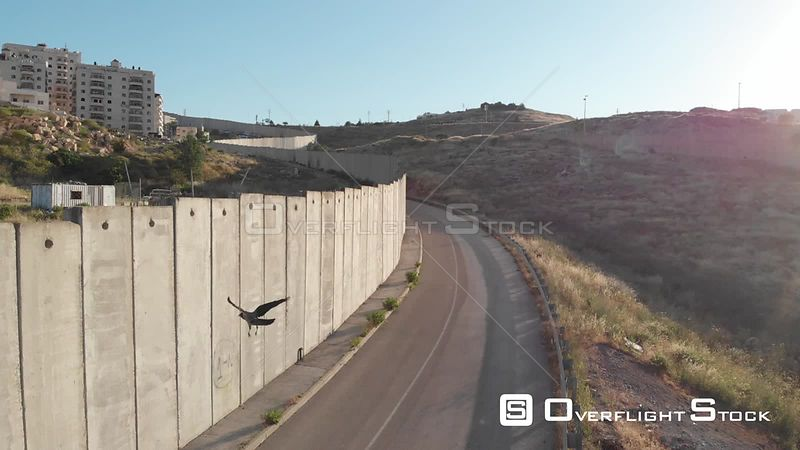 Flight Close to Security Fence in Jerusalem