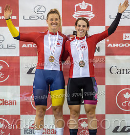 Women Team Sprint Podium. Canadian Track Championships, September 26, 2019