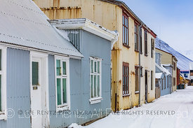 Old Buildings in Ísafjörður in the Westfjords Region of Iceland