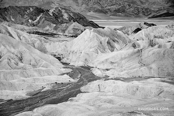 ZABRISKIE POINT DEATH VALLEY CALIFORNIA BLACK AND WHITE