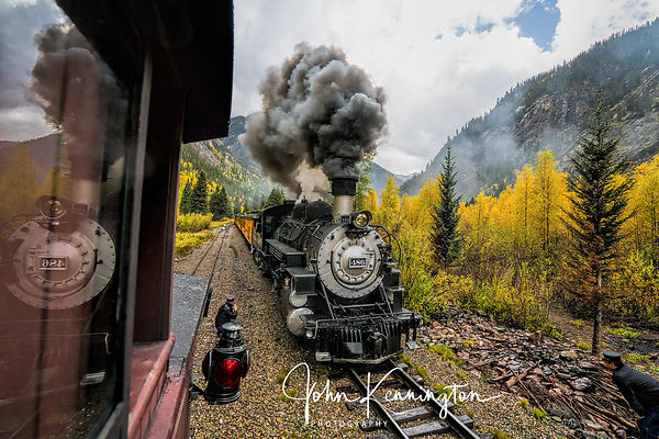 Durango and Silverton Railroad Inspecting The Engine, Durango, Colorado