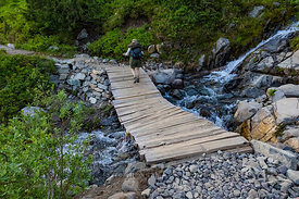 Broken Bridge in Mount Rainier National Park