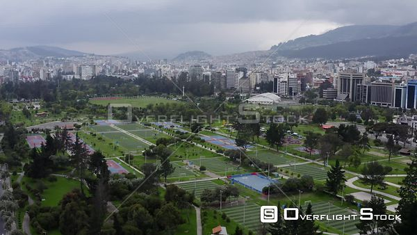 Drone Video of Lockdown of Quito Parque Carolina Ecuador during COVID-19 Coronavirus Pandemic