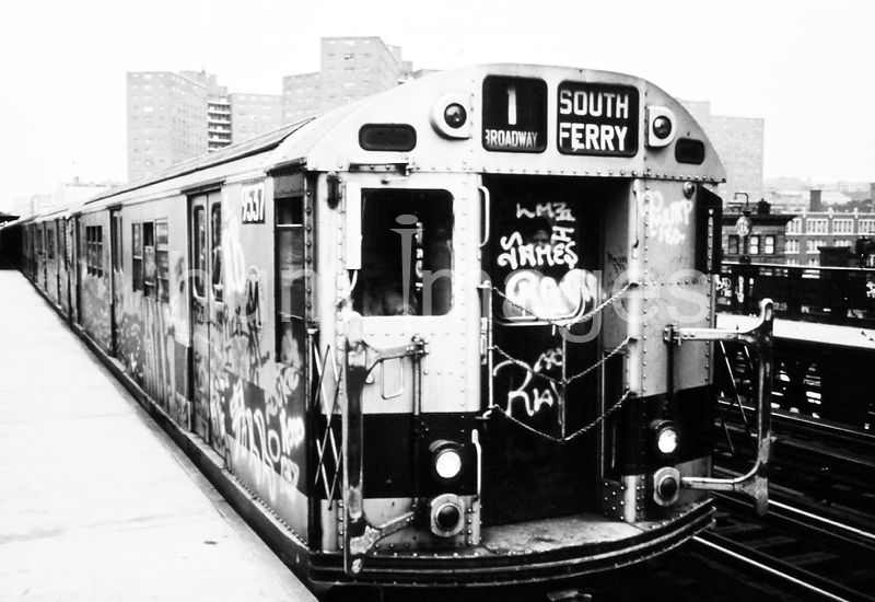 Subway and Elevated Trains Like This One Have Been Spray-Painted by Vandals. 05/1973.