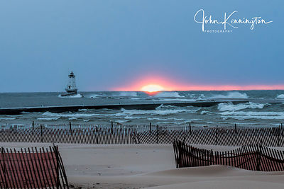 Sunset, Ludington Light, Michigan