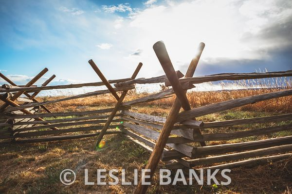Worm Fence or Split Rail Fence at Gettysburg National Military Park