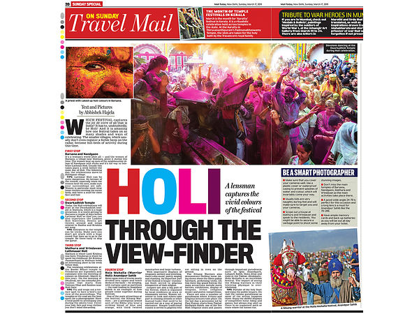 Mail Today; Holi Article; 17 March 2019