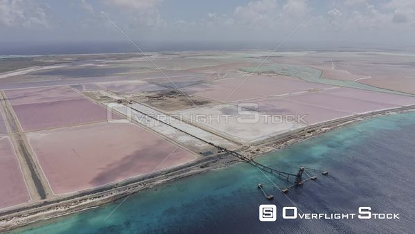 Bonaire Caribbean Moving up and away from Cargill Salt works and salt ponds