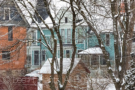 Classic Victorian Houses in Chelsea, Michigan,