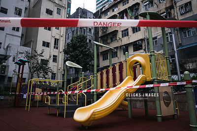 Closed Children Playgrounds For Social Distancing As Hong Kong to Provide Second Round of Financial Aid to Firms