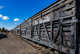 Cattle Cars on Cumbres & Toltec Scenic Railroad in New Mexico