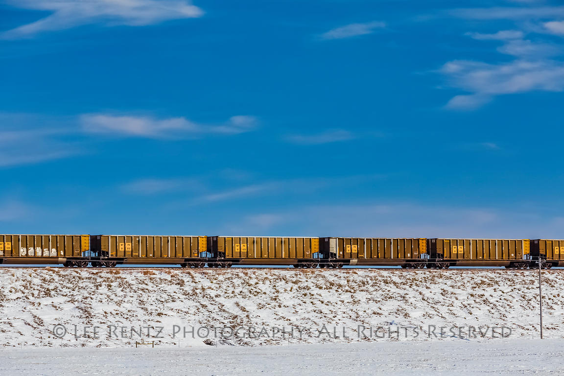 Coal Train Returning to Wyoming from the East