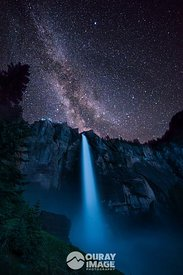 Milky Way Over Bridal Veil Falls, Telluride