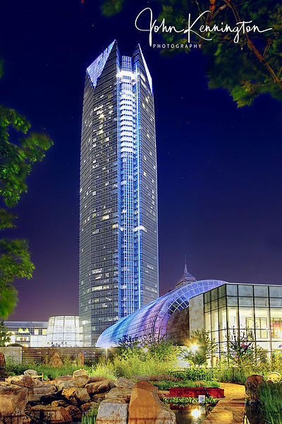 Devon Energy Center and Myriad Gardens, Oklahoma City