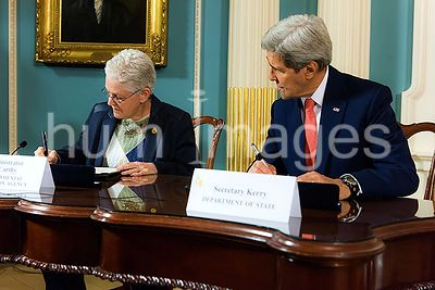 2/18/2015 - Department of State Air Monitoring - Administrator Gina McCarthy and Secretary of State John Kerry