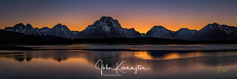 Jackson Lake Sunset Panoramic, Grand Teton National Park, Wyoming