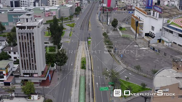Drone Video of Lockdown of  a naciones Quito Ecuador during COVID-19 Coronavirus Pandemic