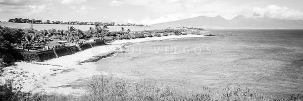 Maui Hookipa Beach Hawaii Black and White Photo