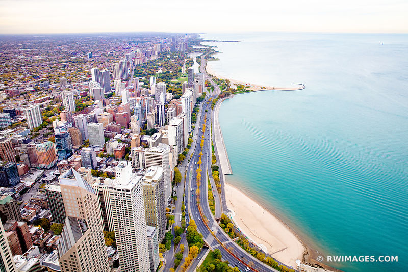 LAKE SHORE DRIVE CHICAGO DOWNTOWN AERIAL VIEW CHICAGO ILLINOIS