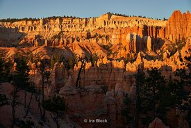 Sunrise over the rock formations at Bryce Canyon National Park, Utah
