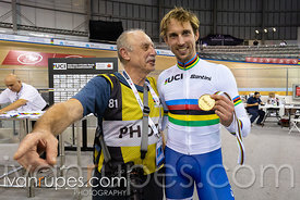 Men C4 Pursuit Podium. 2020 UCI Para-Cycling Track World Championships, Day 3 Afternoon Session, February 1, 2020