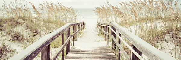 Boardwalk Beach Entrance Pensacola Florida Panorama Photo
