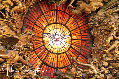 Holy Spirit Window No. 2, Saint Peter's Basilica, Vatican City (Rome)