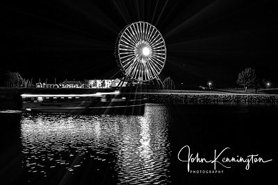 Wheeler Ferris Wheel (BW), Route 66, Oklahoma City