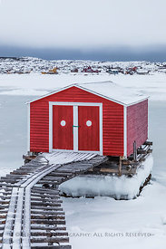 Stage on the Waterfront of Fogo Island, Newfoundland