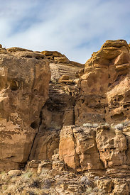 Chacoan Stairway in Chaco Canyon