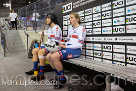 Women Tandem Pursuit Bronze Final. 2020 UCI Para-Cycling Track World Championships, Day 2 Afternoon Session, January 31, 2020