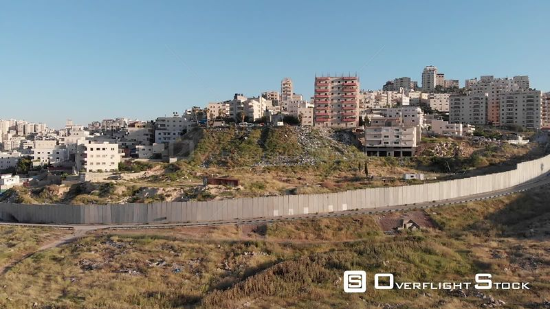 East Jerusalem Security Wall Dividing Pisgat Zeev and Anata Town. Israel