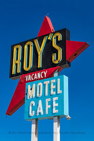 Roy's Motel and Cafe along Route 66 in  California