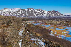 View of at Thingvellir National Park in Iceland