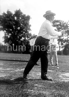Vintage Golf Photo - Politician playing golf ca. 1917