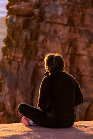 Woman at Sunset in Canyonlands National Park