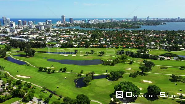 Normandy Shores Country Club Miami Beach aerial drone video 4k