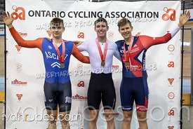 Junior Men Time Trial Podium. 2020 Ontario Track Championships, March 7, 2020