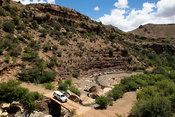 4x4 crossing the Makoae River, Southern Lesotho