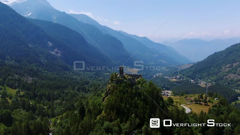 the castle of Graines, in Aosta valley, Italian Alps