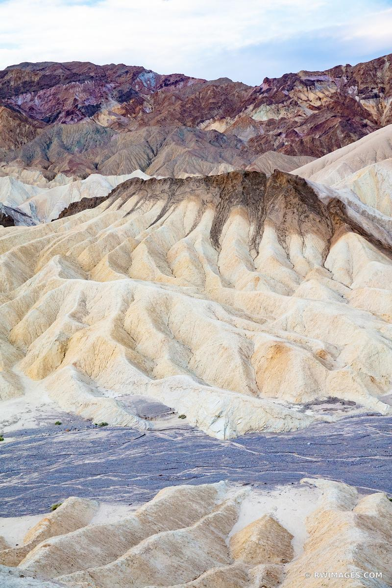 ZABRISKIE POINT DEATH VALLEY CALIFORNIA COLOR VERTICAL