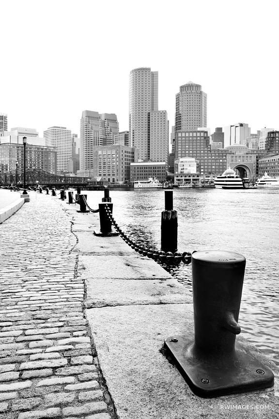SOUTH BOSTON WATERFRONT BLACK AND WHITE VERTICAL