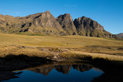 The Three Bushmen (Devil's Knuckles) mountains, Sehlabathebe National Park, Lesotho