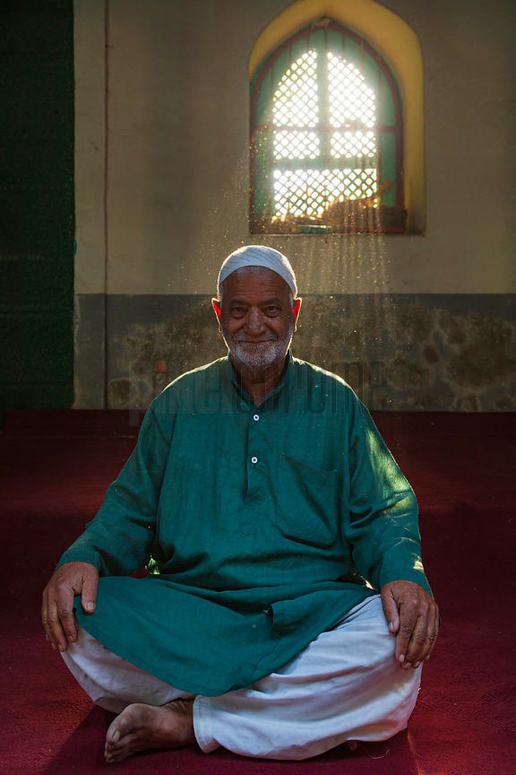 Moslem Man Sitting in Mosque