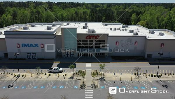 Drone Video Closed Movie Theater During COVID-19 Pandemic Fayetteville North Carolina