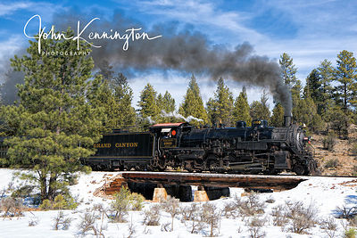 Grand Canyon Railroad Engine #4960 in The Coconino National Forest, Arizona