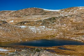 Frozen Lake along Beartooth Highway